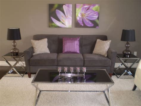 Grey And Purple Living Room by Information About Rate My Space Questions For Hgtv