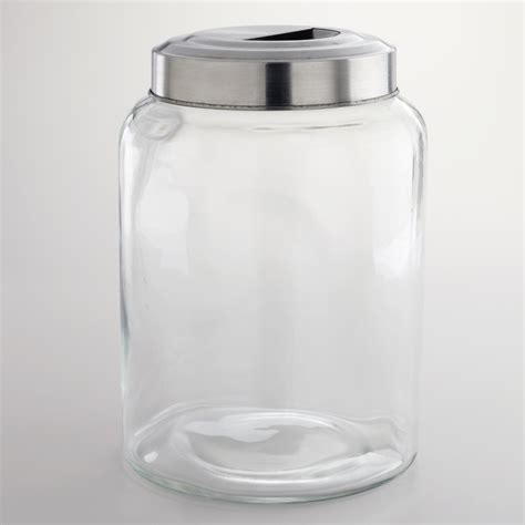 glass canisters for kitchen large glass kitchen jar by world market farmhouse home