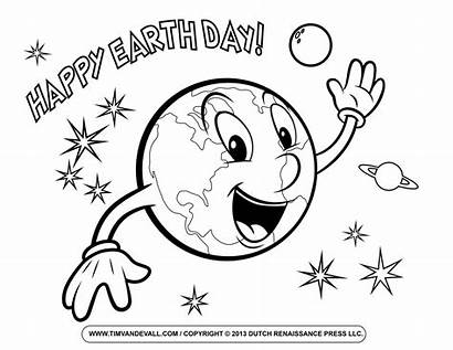 Earth Coloring Pages Smile Happy Printable Science