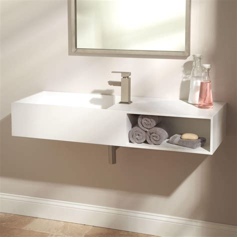 tub basin 47 quot ellie resin sink white matte finish bathroom