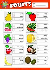 Fruits ESL Printable Worksheets For Kids 2
