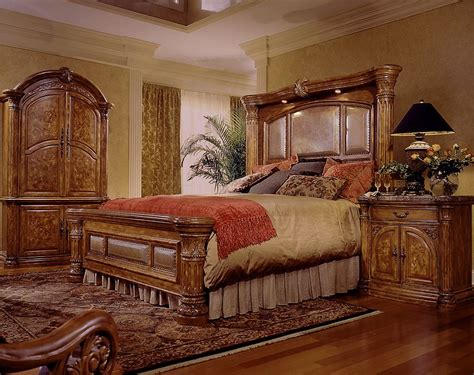 Aico Furniture Monte Carlo 8piece Mantel Bedroom Set