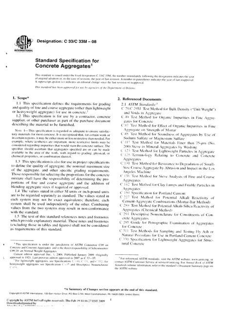 ASTM C33 - C33M-08