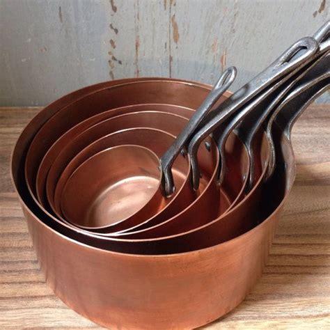 antique vintage french copper pots wwwetsycomshopbonnebrocante copper pots