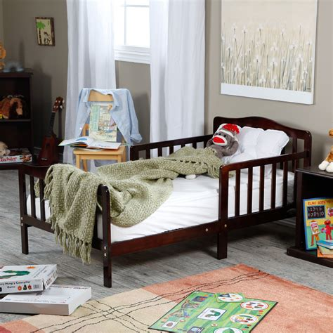 The Toddler Bed by The Orbelle Contemporary Solid Wood Toddler Bed Cherry
