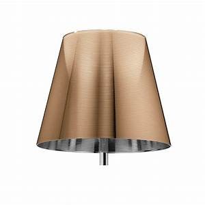 buy flos ktribe f floor lamp with dimmer polished bronze With ktribe table lamp bronze