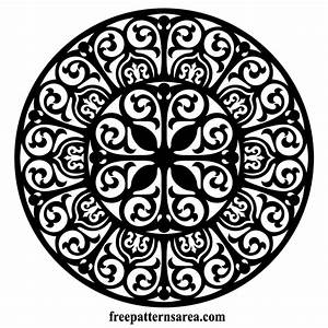 Circle Ornament Vector Floral Damask Free Pattern Laser