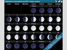 Calendario Lunar Agosto de 2019 Fases Lunares