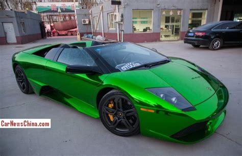 lamborghini murcielago roadster  shiny green  china