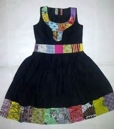 casual dress 3 ankara dress made with plain and patterned patch