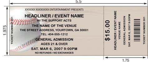 baseball ticket custom baseball tickets ticket templates ta ticket printing