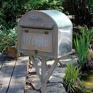 Briefkasten Shabby Chic : freistehend metall briefkasten post garten shabby vintage ~ Watch28wear.com Haus und Dekorationen