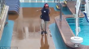 Cruise Ship Passenger Filmed Showing Off Some DANCE Moves In A Storm   Daily Mail Online