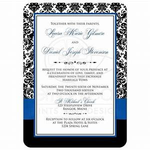 photo template wedding invitation royal blue white With wedding invitation blank template royal blue