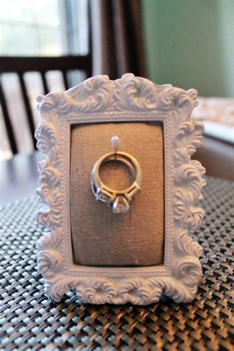 diy ring holder frame great by the kitchen sink antonia my is always throwing hers in