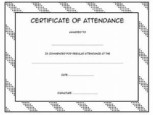 Perfect Attendance Certificate Template Perfect Attendance Certificate Template 7 Best 10 Templates