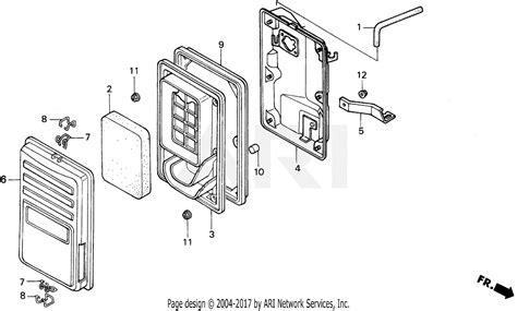 honda em5000sx a generator jpn vin ea7 1000001 parts diagram for em eb air cleaner