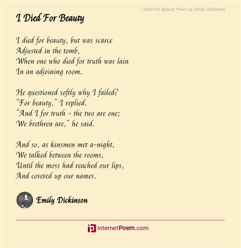 died  beauty poem  emily dickinson