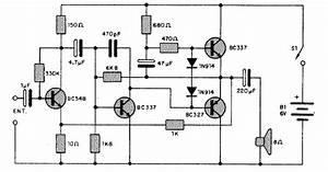 Electronica Circuitos Diagramas   Circuito Amplificador