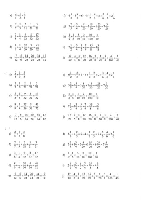 common fractions mistakes ks3 ks4 ages 11 16 by kaszal