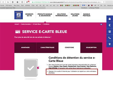 la banque postale si鑒e sos e carte bleue la banque postale logiciel pour mac résolu