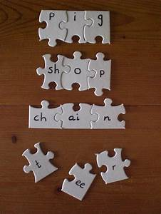 17 best images about home made phonics activities on With puzzle piece letters