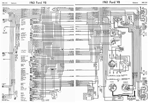 ford  galaxie  complete electrical wiring diagram