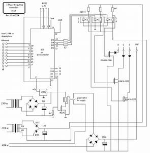 Circuit  Controlling The Speed Of 3 Phase Induction Motors
