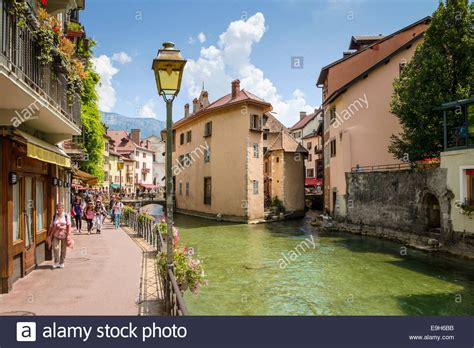 Street Scene In Annecy Haute Savoie France Europe In