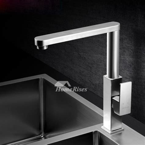 contemporary kitchen faucets contemporary kitchen faucets brushed nickel silver