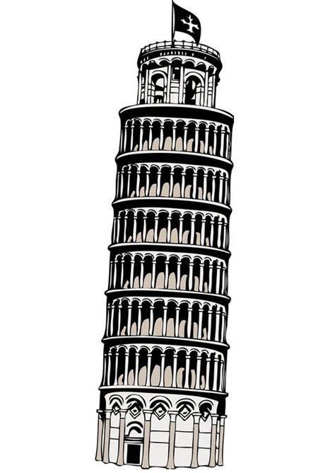 toren van pisa tekening kleurplaat toren van pisa afb 17085