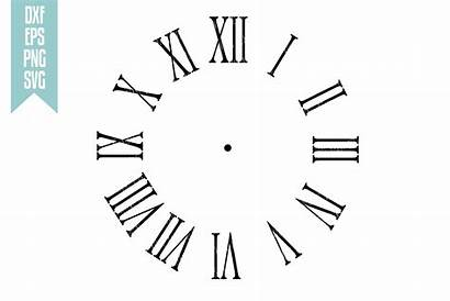 Roman Clock Vector Numeral Numerals Numbers Svg