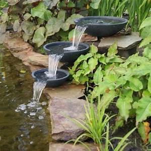 Jardin Avec Bassin : ubbink cascade en polystone mistaya avec une pompe xtra 900l h liner pvc 0 5 mm et tuyau 3 m ~ Melissatoandfro.com Idées de Décoration