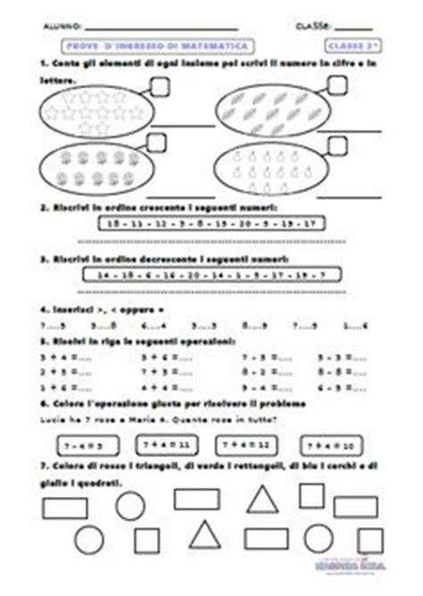 prove d ingresso classe seconda tappa alla decina didattica scuola primaria classe