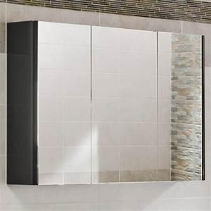 gloss armoire de toilette triptyque lapeyre 39250 With porte d entrée alu avec armoire triptyque salle de bain