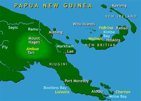 papua  guinea map