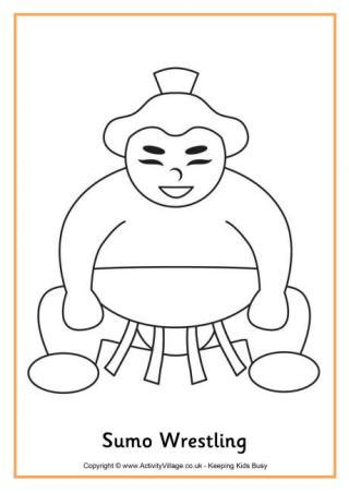 sumo wrestler colouring page