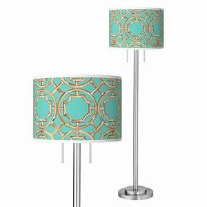 teal bamboo trellis giclee brushed nickel garth floor lamp With teal paper floor lamp