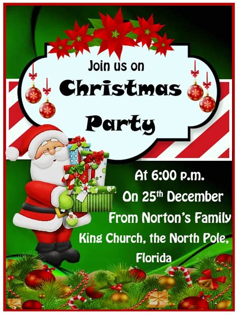 christmas party invitation templates ms office
