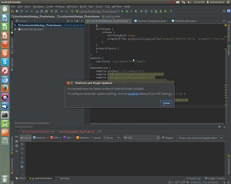 android studio version not able to update android studio 1 5 to android