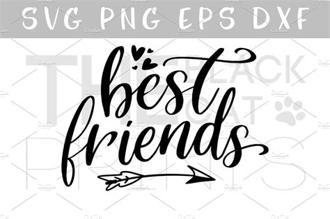 Free Best Friend by Best Friends Svg Dxf Png Eps Illustrations Creative Market