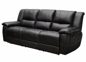 Lee Black Reclining 3 PC Sofa Set (Sofa, Love Seat and