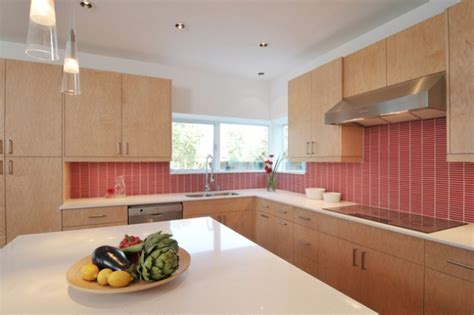 red backsplash designs  festive spirit   kitchen