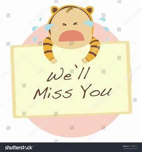 We Will Miss You : cute baby crying when holding we stock vector 114365695 shutterstock ~ Orissabook.com Haus und Dekorationen