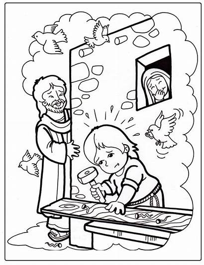 Jesus Growing Coloring Pages Crafts Sunday Bible