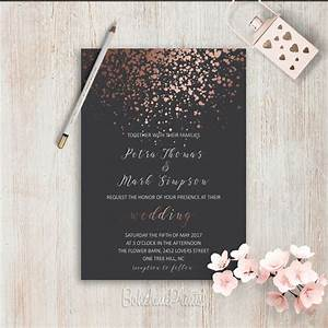 elegant wedding invitations simple wedding invitation rose With rose gold wedding invitations ireland