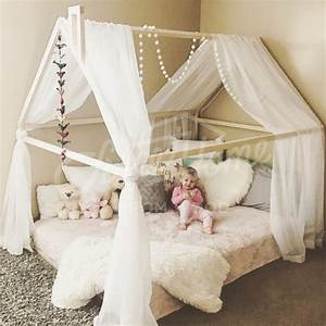 Frame Bed House Bed Bed House Montessori Nursery Wooden