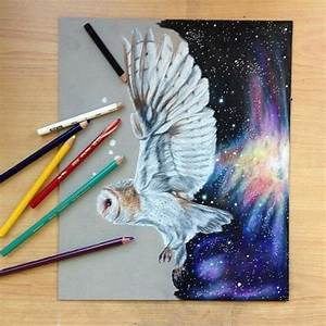 Color Pencil Drawing | We Heart It | owl, art, and draw
