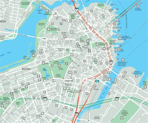 map  boston  printable maps