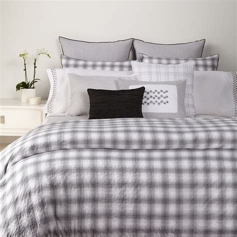 decorating bedroom ideas bedroom vera wang crinkle plaid bedding with brown wooden